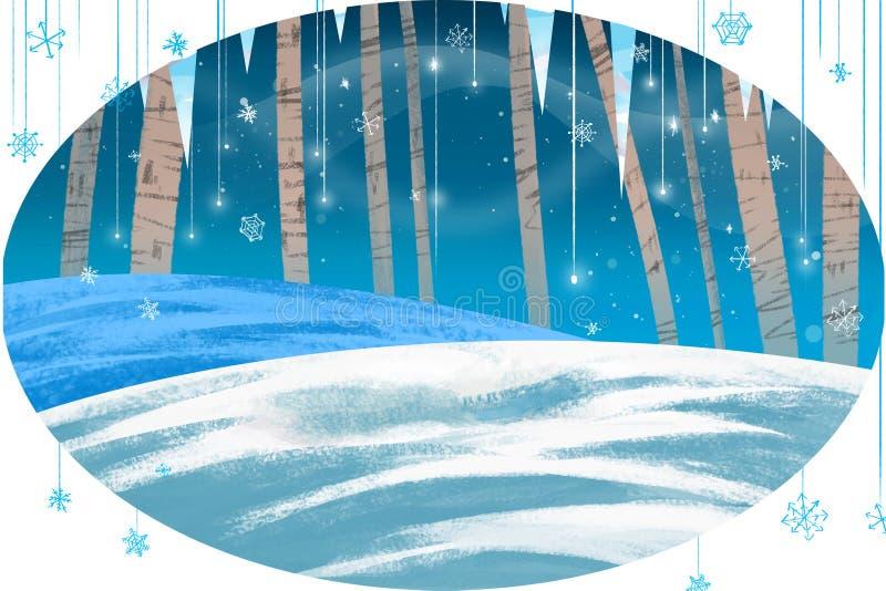 Ilustracja dla dzieci: Zimy karta ilustracji