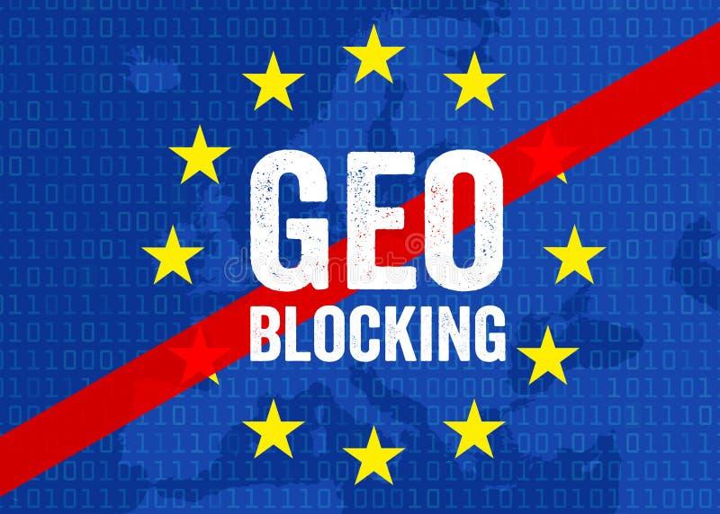 Ilustracja dla geo blokingu ilustracja wektor