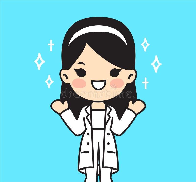 Ilustracja dla lekarki ?liczny styl ilustracja wektor