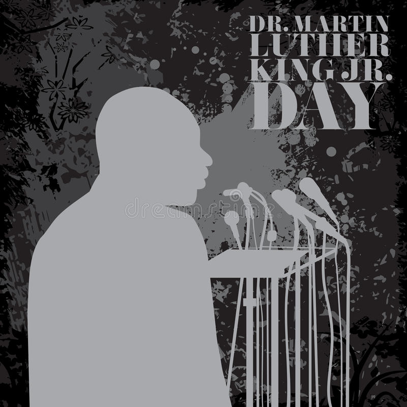Ilustracja dla Martin Luther King dnia ilustracji