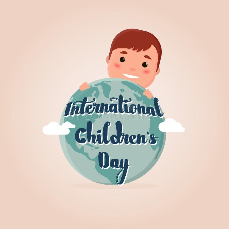 Ilustracja dla międzynarodowego dziecka ` s dnia ilustracja wektor