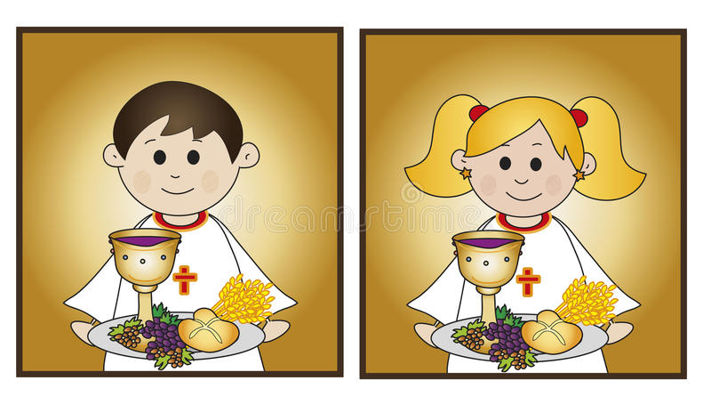 Pierwszy communion royalty ilustracja