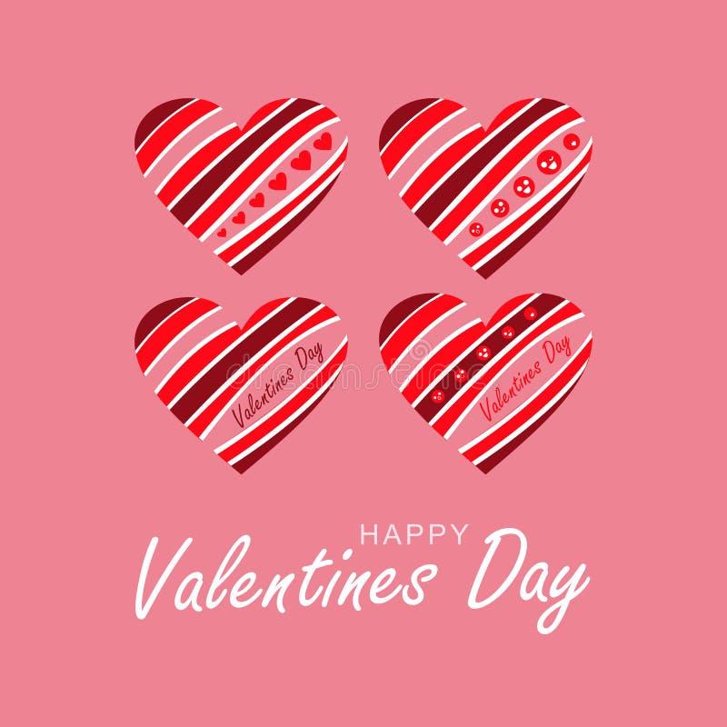 Ilustracja dla sztandaru, pokrywa, karta szczęśliwy dzień valentine s royalty ilustracja