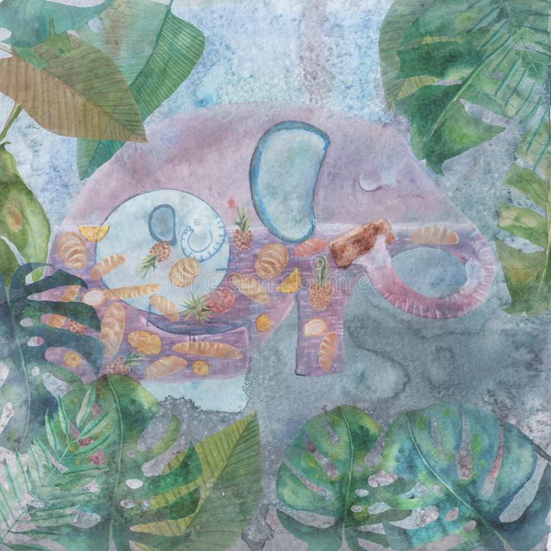 Ilustracja dla wiersza o słoniu zdjęcia stock