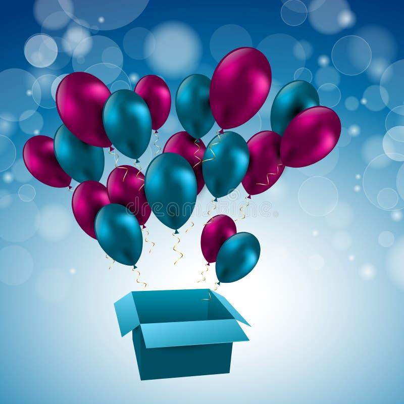 Ilustracja dla wszystkiego najlepszego z okazji urodzin szybko się zwiększać wektor royalty ilustracja
