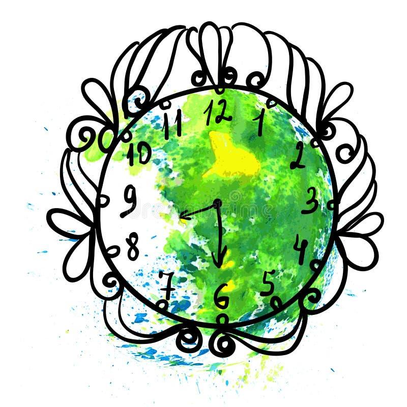 Ilustracja dla Ziemskiego godzina rocznika zawody międzynarodowi ilustracja wektor