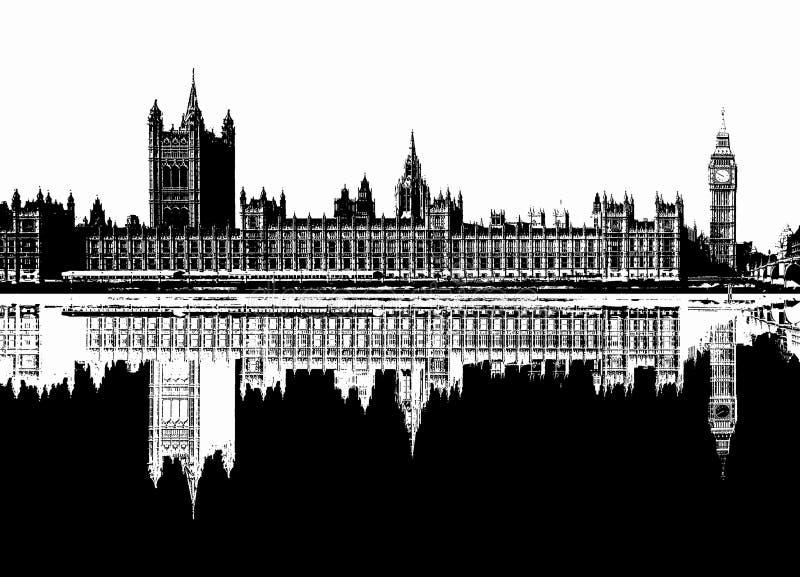 Ilustracja domy parlament w Londyn royalty ilustracja