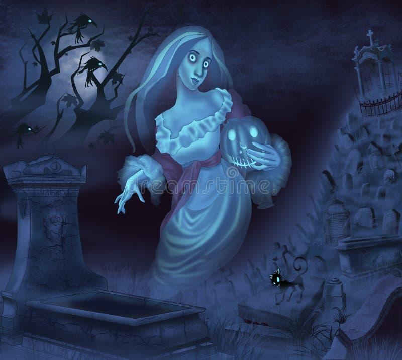 Ilustracja duch ilustracji