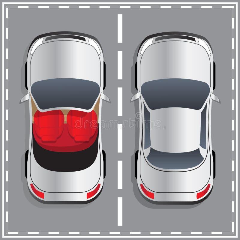 Ilustracja dwa samochodu ilustracja wektor