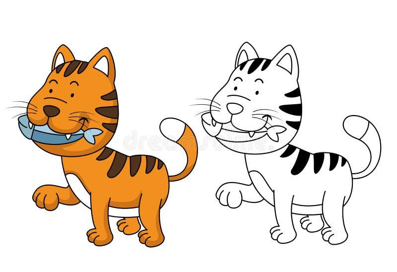 Ilustracja edukacyjna kolorystyki książka - kot ilustracji