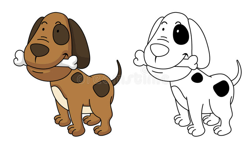Ilustracja edukacyjny kolorystyka pies royalty ilustracja