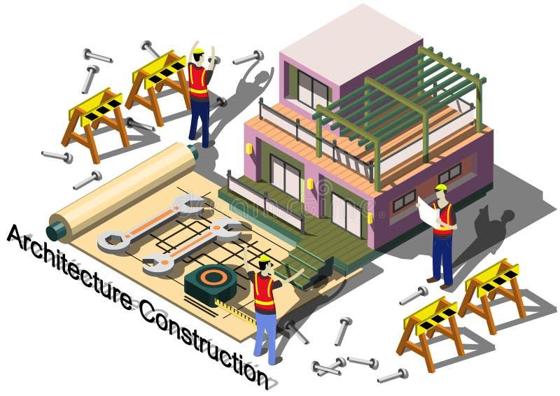 Ilustracja ewidencyjny graficzny architektury budowy pojęcie royalty ilustracja