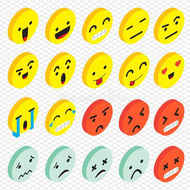 Ilustracja ewidencyjny graficzny emoticons ikony pojęcie ilustracji