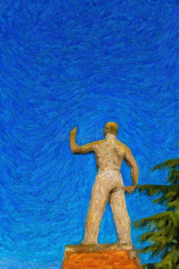 Ilustracja Faszystowska okres statua zdjęcia stock