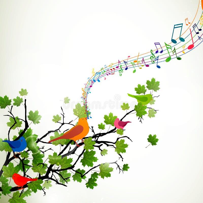 Śpiewaccy ptaki ilustracja wektor