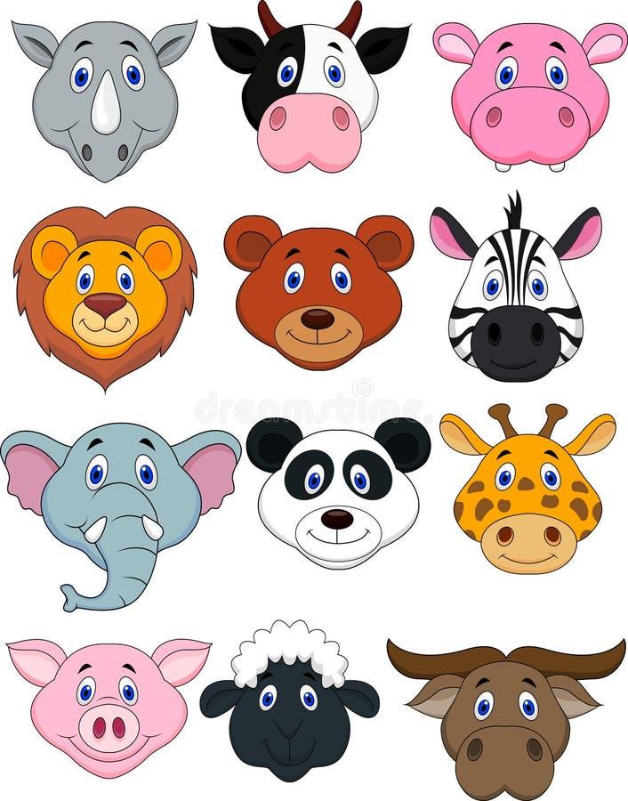 Kreskówki zwierzęcia głowy ikona ilustracja wektor