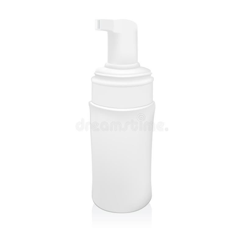 Ilustracja Gel Piankowego lub Ciekłego mydła aptekarki pompy butelki Plastikowy biel ilustracji