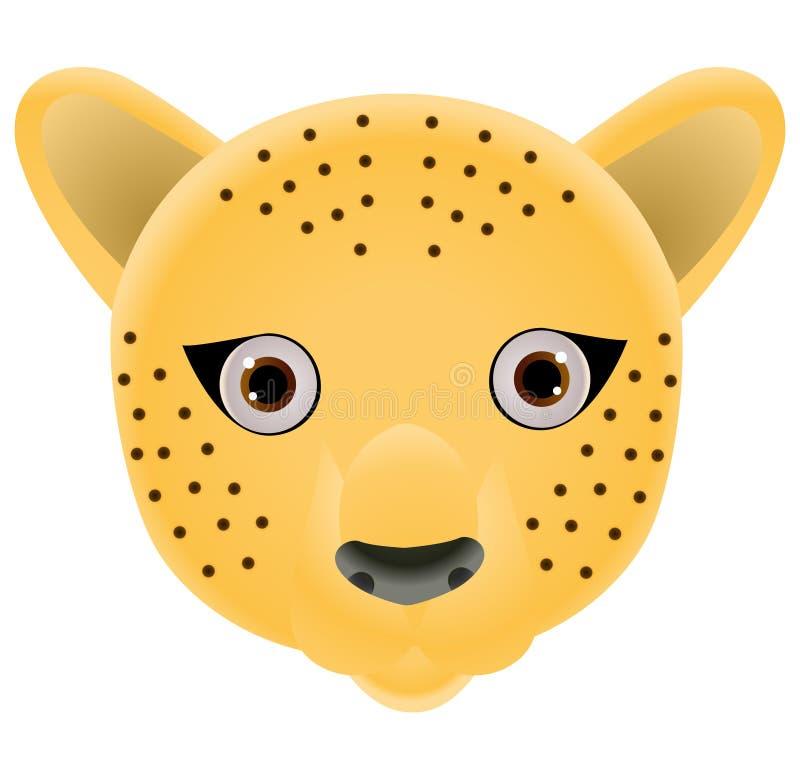 Ilustracja gepard twarz ilustracji