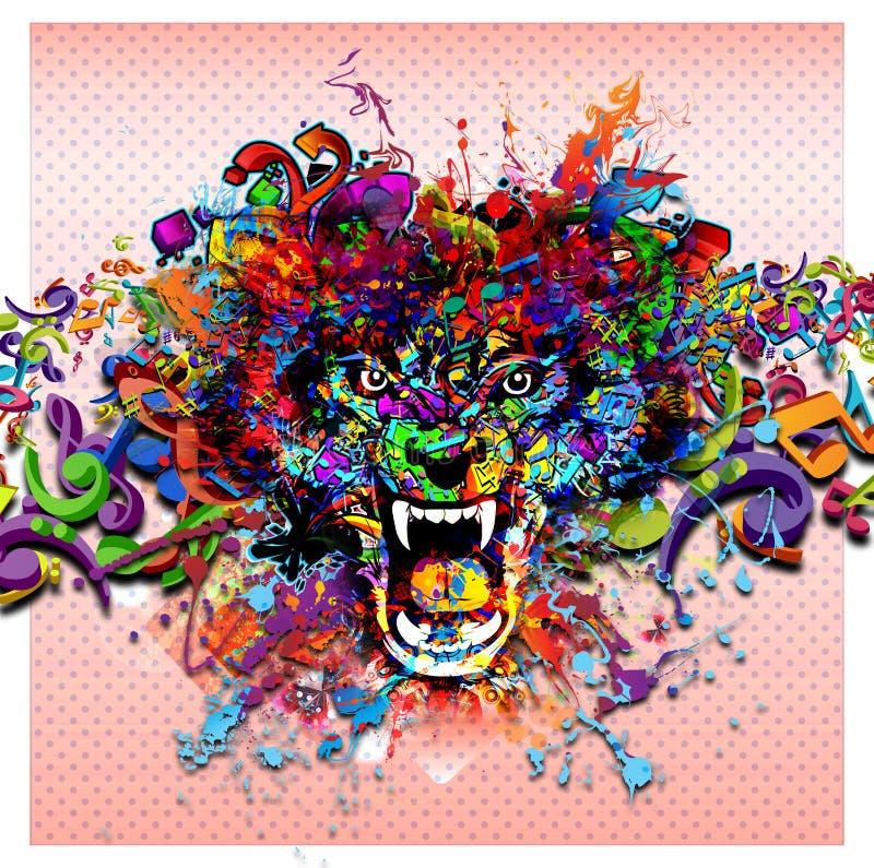 Ilustracja Gniewny wilk royalty ilustracja