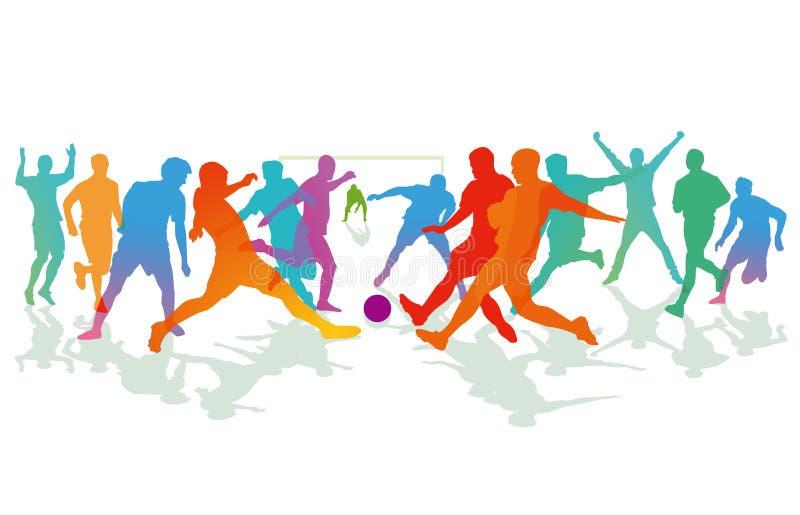 Ilustracja gra piłka nożna royalty ilustracja