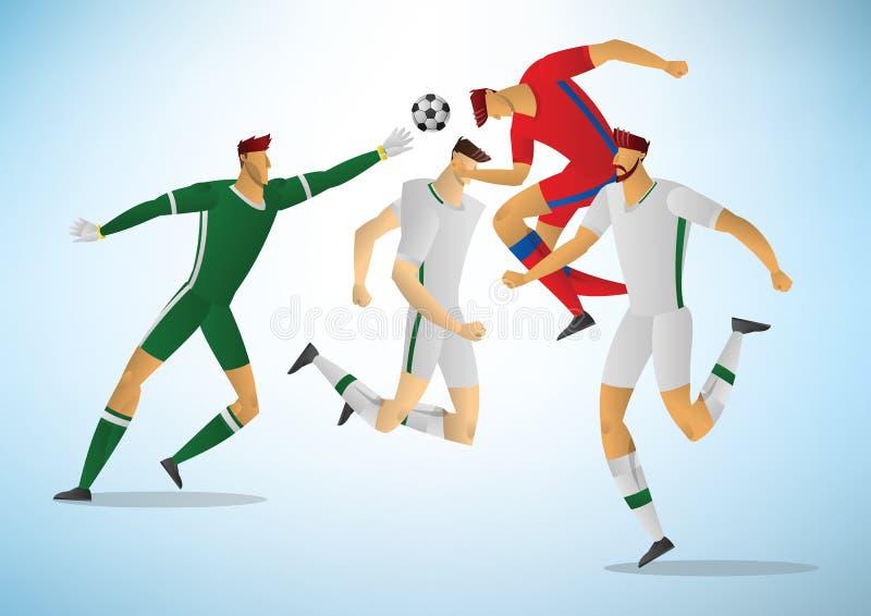 Ilustracja gracze piłki nożnej 03 ilustracji