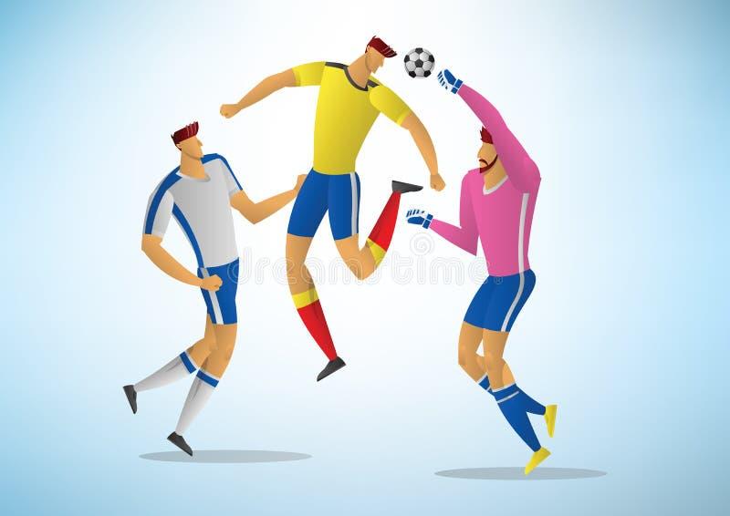Ilustracja gracze piłki nożnej 04 ilustracja wektor