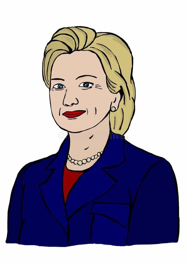 Ilustracja Hillary Clinton bieg dla prezydenta ilustracja wektor