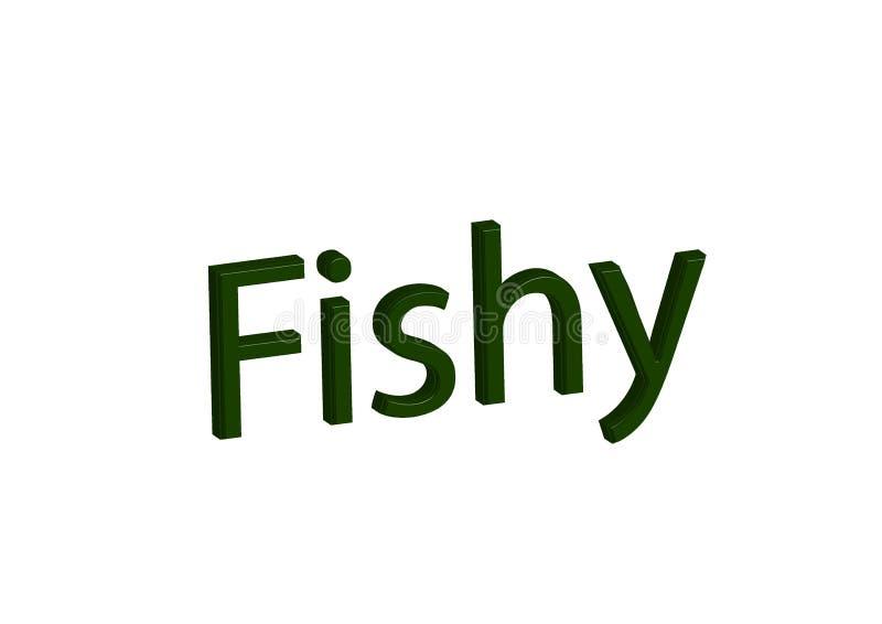 Ilustracja, idiom pisze fishy odosobnionym w białym tle ilustracji