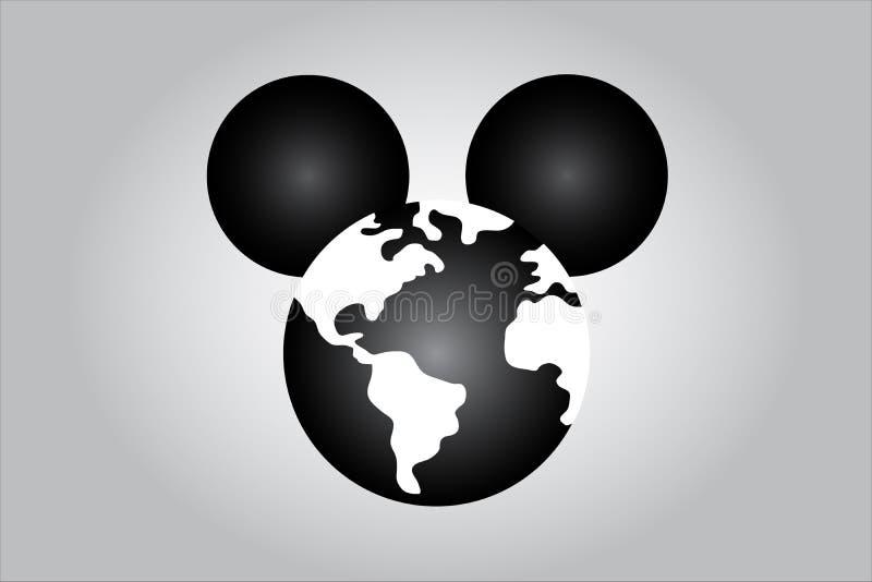 Ilustracja ilustruje światową medialną dominację mysz royalty ilustracja