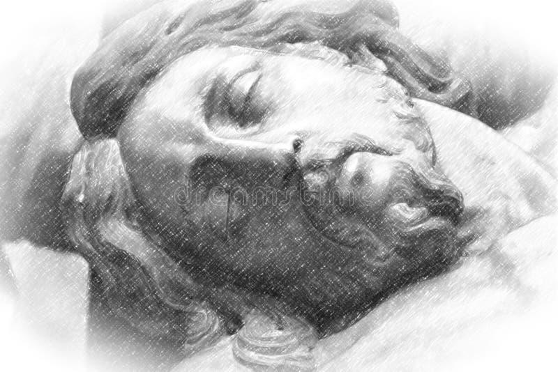 Ilustracja jezus chrystus zdjęcia stock