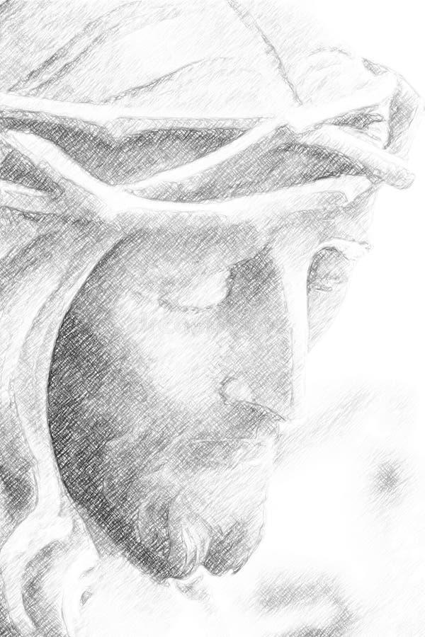 Ilustracja jezus chrystus fotografia royalty free