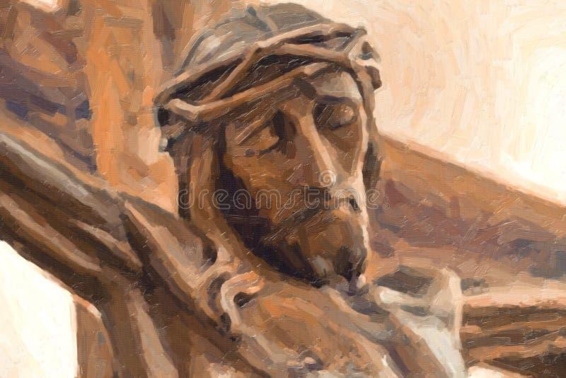 Ilustracja Jezusowy ukrzyżowany obrazy royalty free
