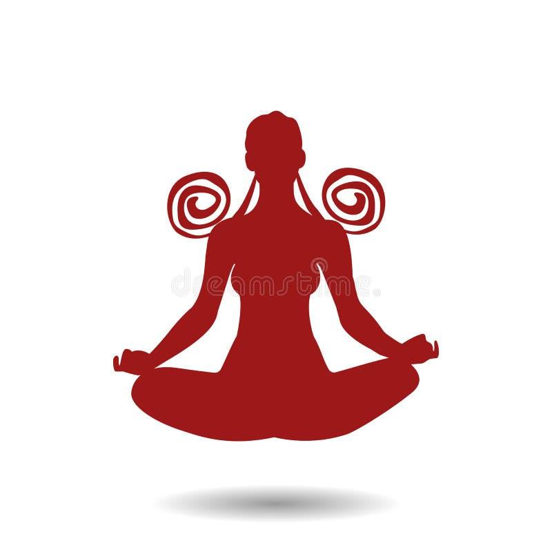 ilustracja joga poza obrazy stock