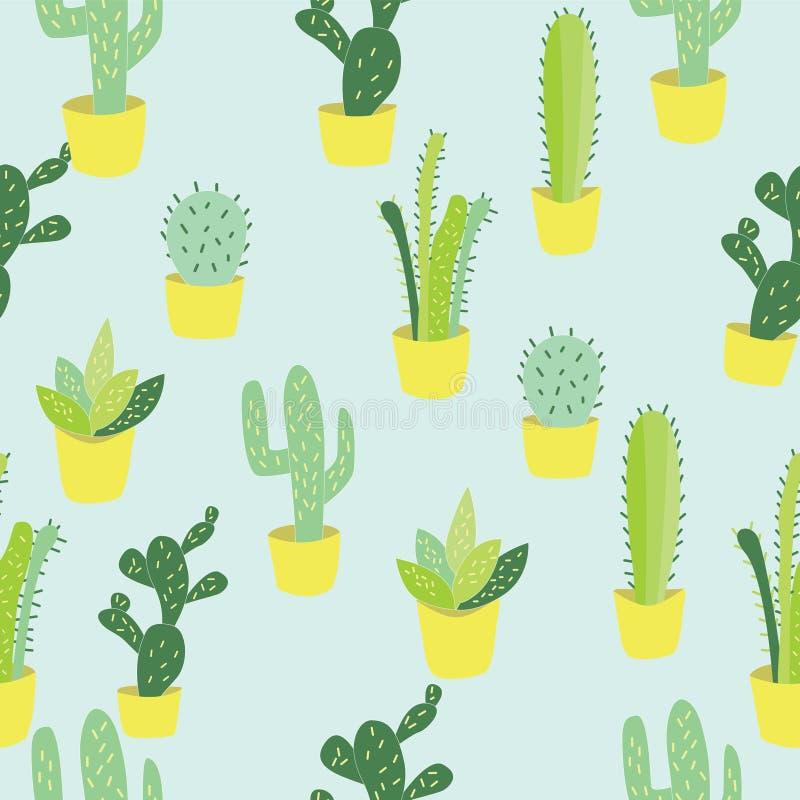 Ilustracja kaktus w garnku zdjęcia stock