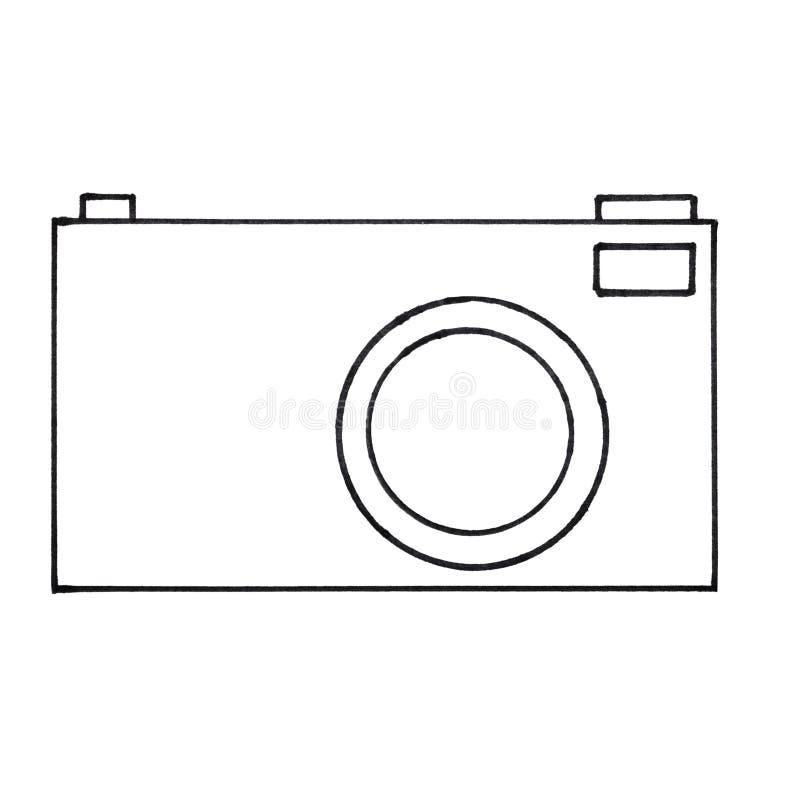 Ilustracja kamera royalty ilustracja