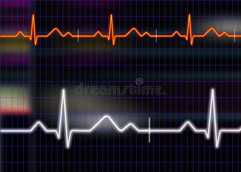 ilustracja kardiogram ilustracji