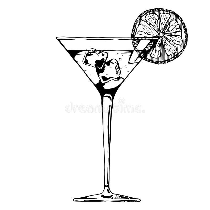 Ilustracja koktajlu szkło ilustracja wektor