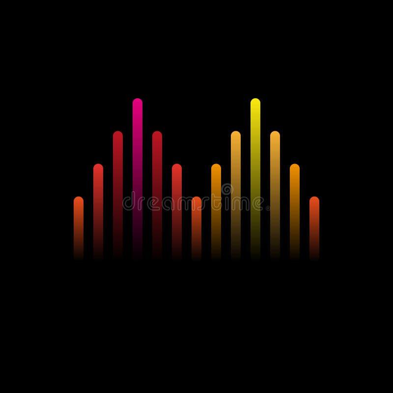 Ilustracja kolorowego musicalu prętowa pokazuje pojemność również zwrócić corel ilustracji wektora ilustracja wektor