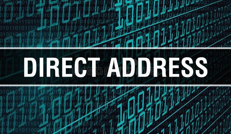 Ilustracja koncepcji adresowania bezpośredniego przy użyciu kodu do tworzenia programów i aplikacji Bezpośredni kod witryny sieci zdjęcie stock