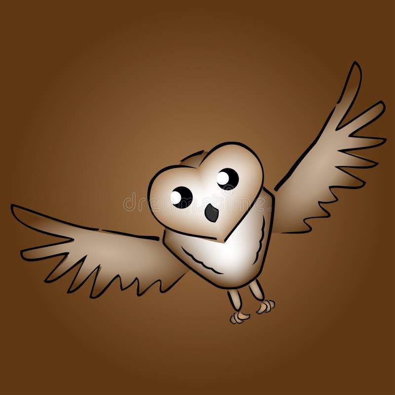 Ilustracja kreskówki stajni sowa ilustracji