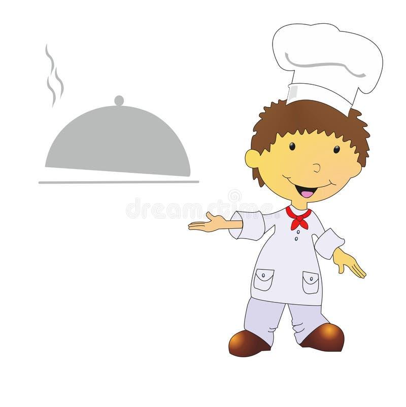 Ilustracja kucharz royalty ilustracja