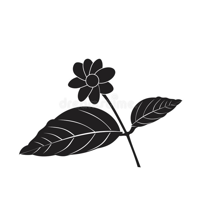Ilustracja kwiatka dla symbolu logo rysowania royalty ilustracja