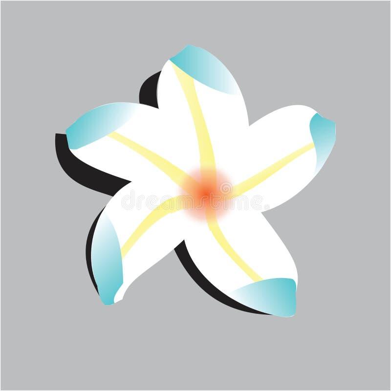 Ilustracja kwiatka dla symbolu logo rysowania ilustracji