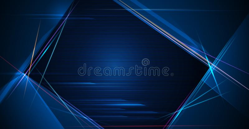 Ilustracja lekki promień, lampas linia z błękita światłem, prędkość ruchu tło ilustracji