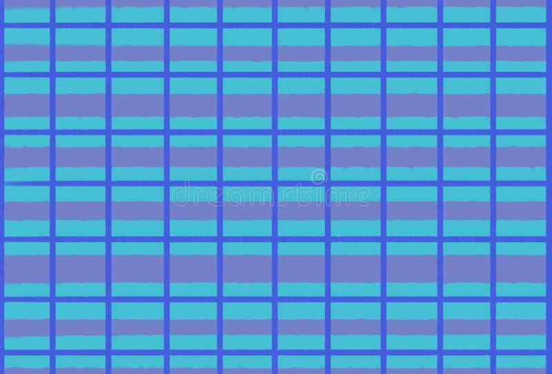 Ilustracja linie i komórki w błękitnych brzmieniach, tło ilustracja wektor