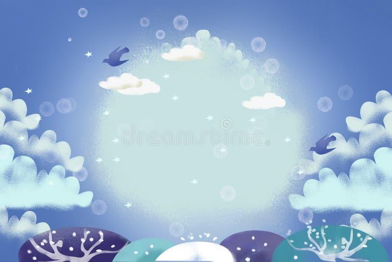 Ilustracja: Lodowa zima ilustracji