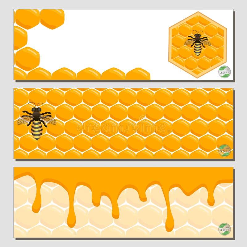 Ilustracja logo dla tematu pszczoły i miód ilustracji