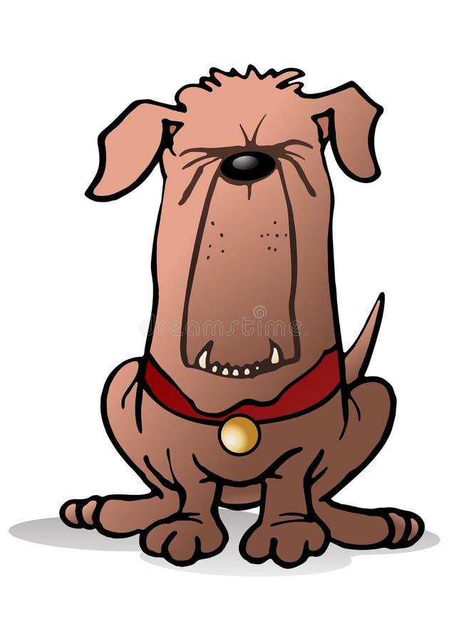 Straszny strażowy pies royalty ilustracja