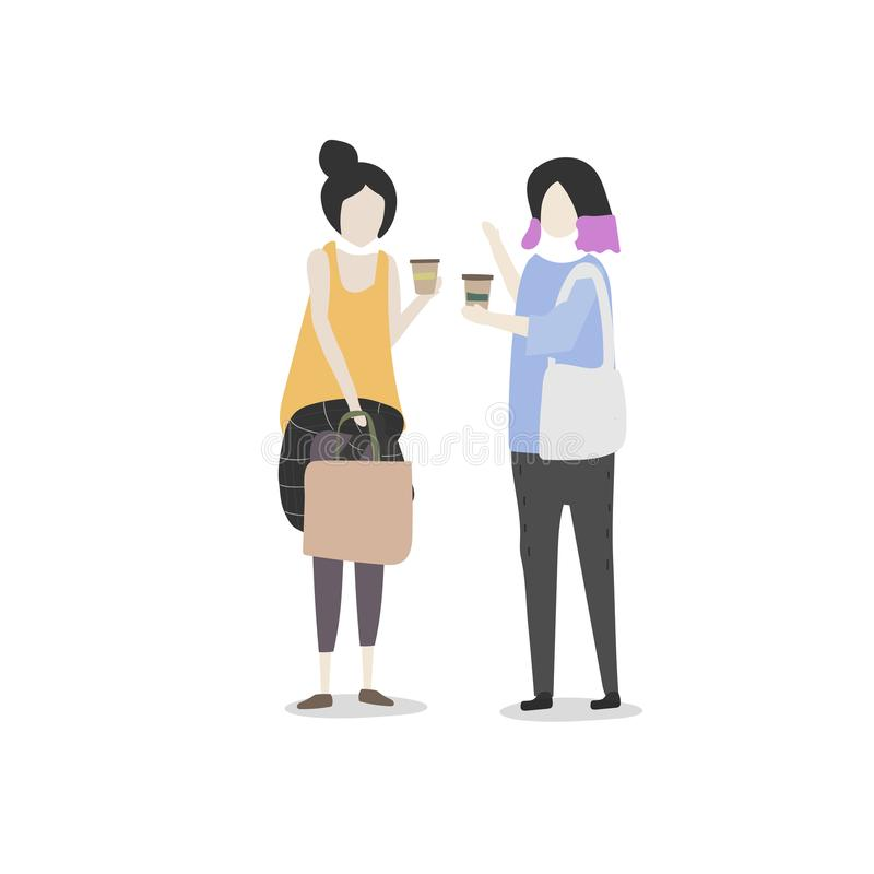 Ilustracja ludzki avatar ilustracja wektor