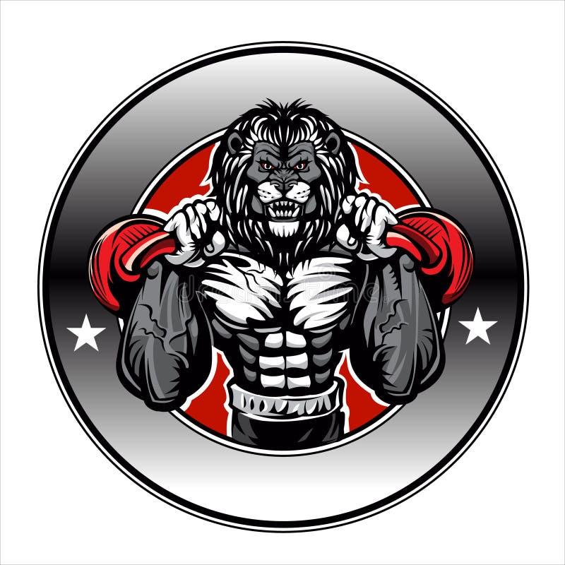 Ilustracja lwa bodybuilder ilustracja wektor